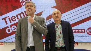 Els sindicats reclamen que els salaris continuïn guanyant poder adquisitiu