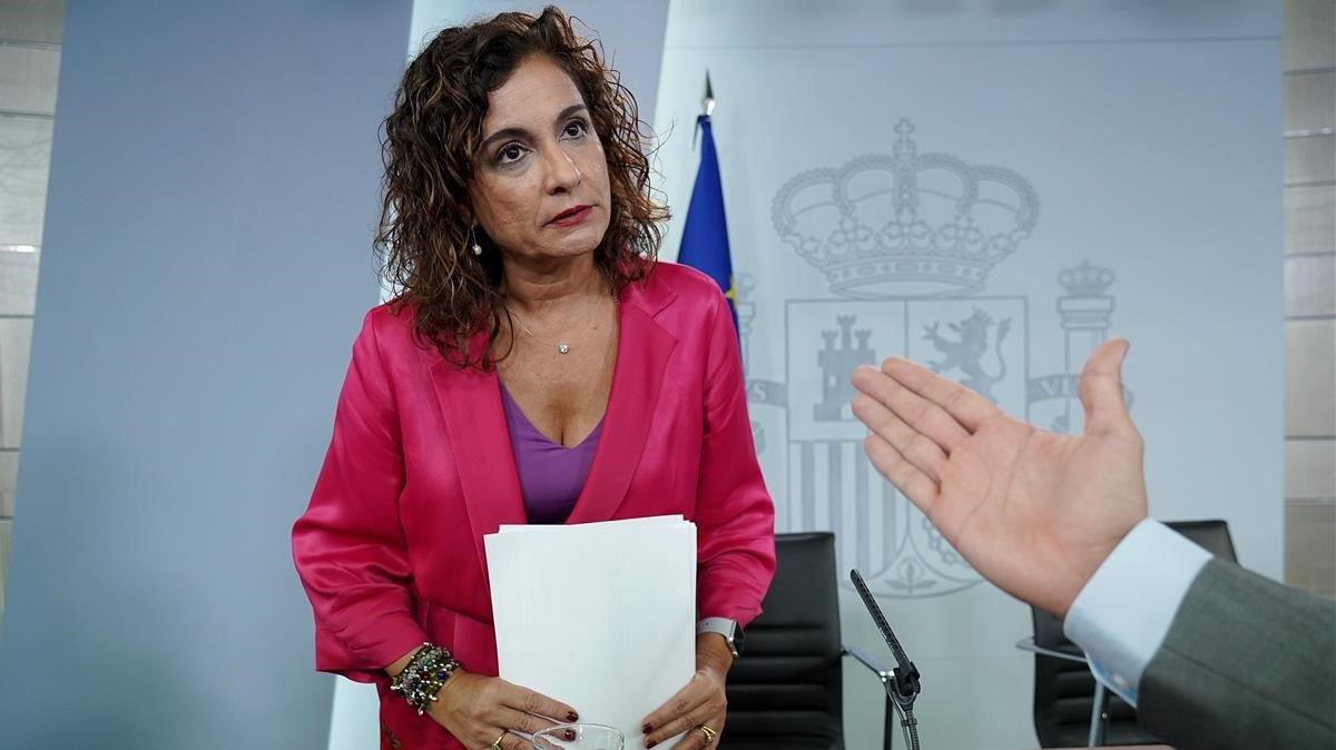 La ministra de Hacienda, Maria Jesús Monteo, en una imagen de archivo.