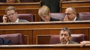 Carles Campuzano durante el pleno en el Congreso.