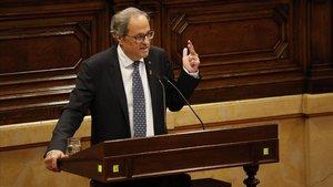 Torra afirma que «Catalunya va bé» i guarda les seves cartes davant de la sentència