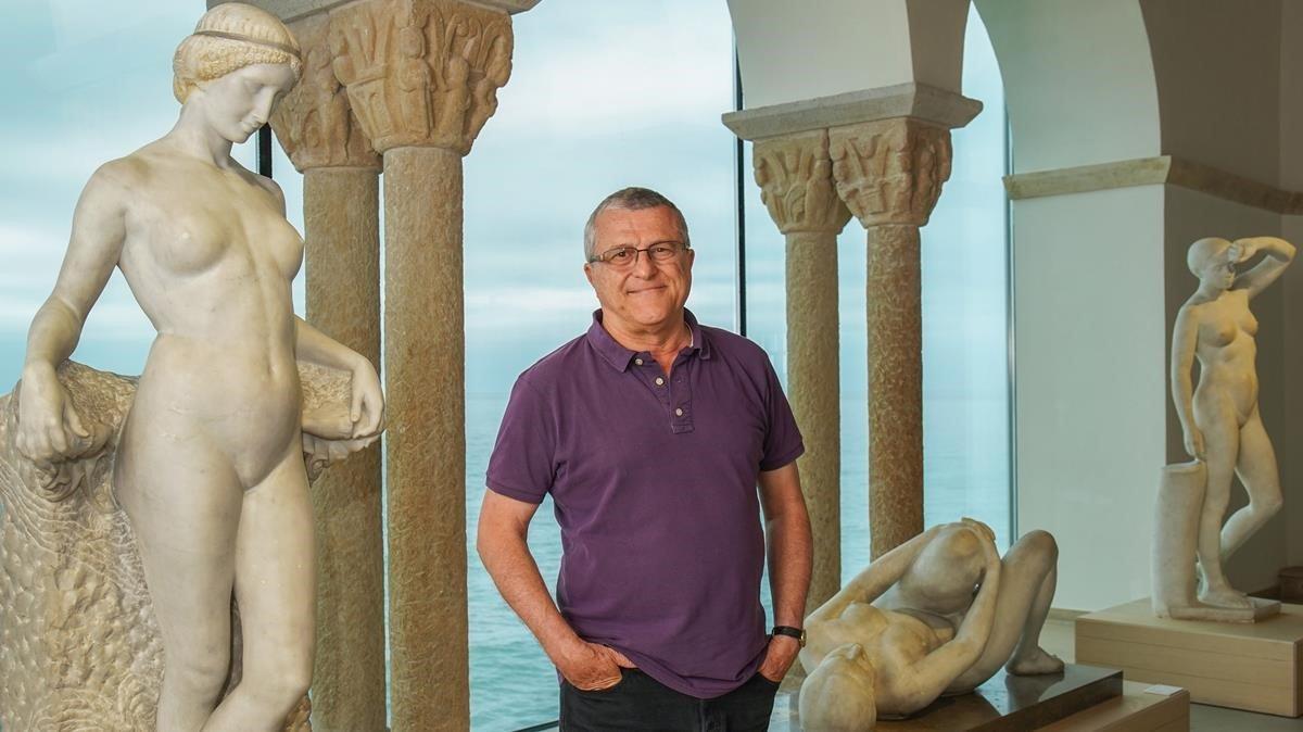 Àlex Gorina, en el Palau de Maricel de Sitges.