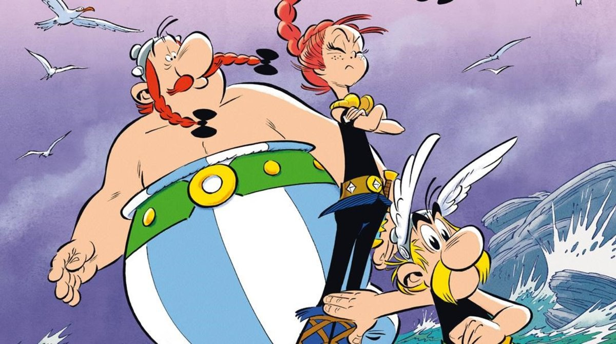 Fragmento de la portada del nuevo Astérix.