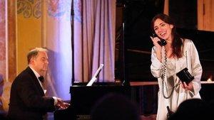 Mercedes Gancedo y Julius Drake, durante la interpretación de'La voix humaine'.