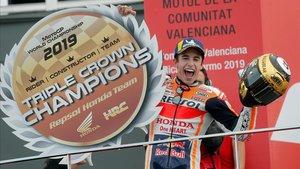 Marc Márquez guanya el GP de València i dona el títol al Repsol-Honda