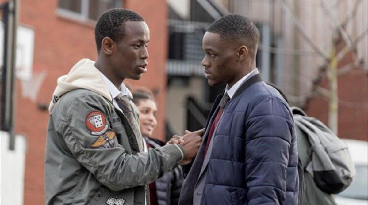 Stephen Odubola y Michael Ward en 'Blue story'.