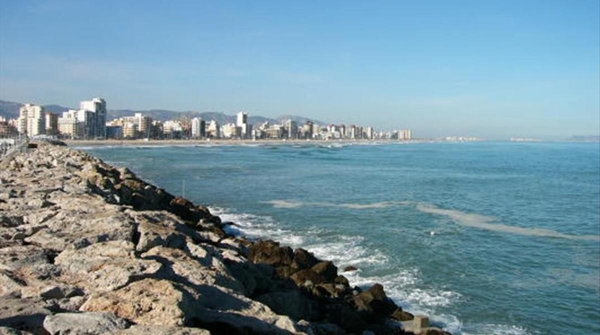 Aspecto de las playas de Gandia.