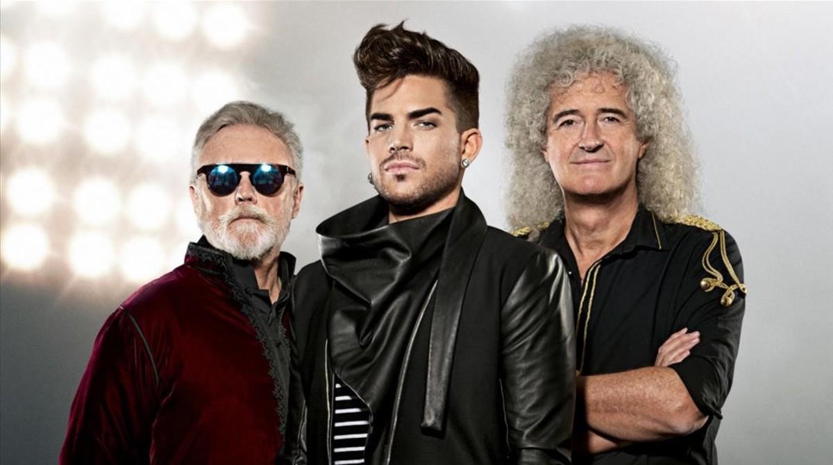 Roger Taylor, Adam Lambert y Brian May: Queen en el 2016.