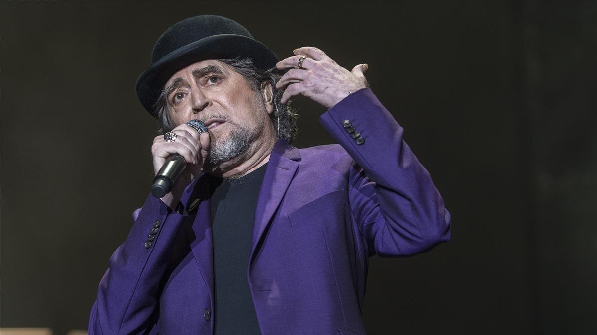 Joaquín Sabina, el pasado mes de mayo en el Palau Sant Jordi.