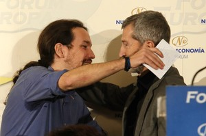 Julio Rodríguez y Pablo Iglesias
