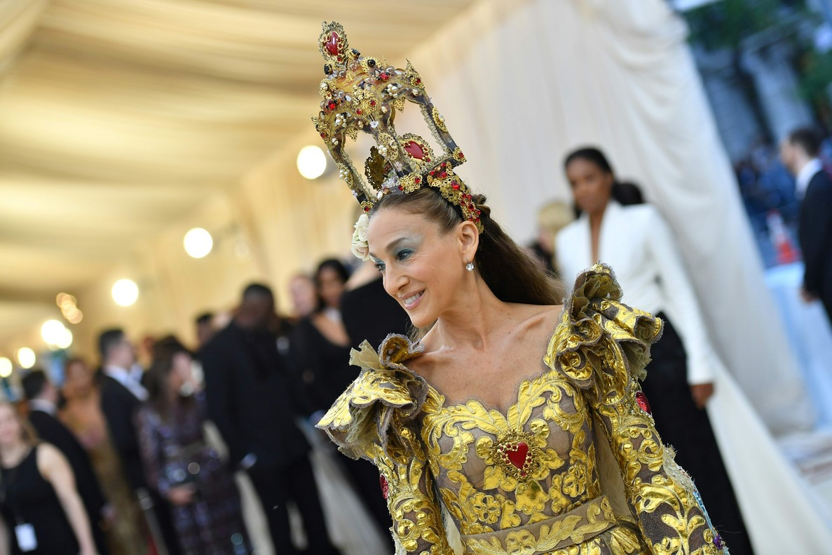 Sarah Jessica Parker arrives for the 2018 Met Gala on May 7, 2018, at the Metropolitan Museum of Art in New York.
