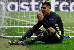 Ronaldo se lamenta tras una ocasión fallada ante el Atlético de Madrid.
