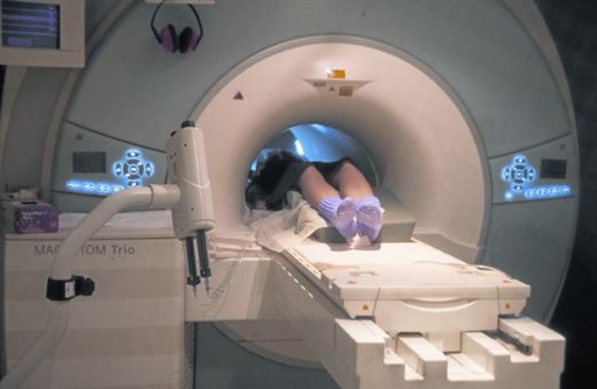 Aparato de resonancia magnética en el Hospital del Vall d'Hebron.