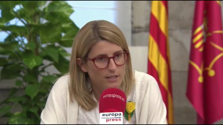 Entrevista a la consellera de Presidència y portavoz del Govern,Elsa Artadi.