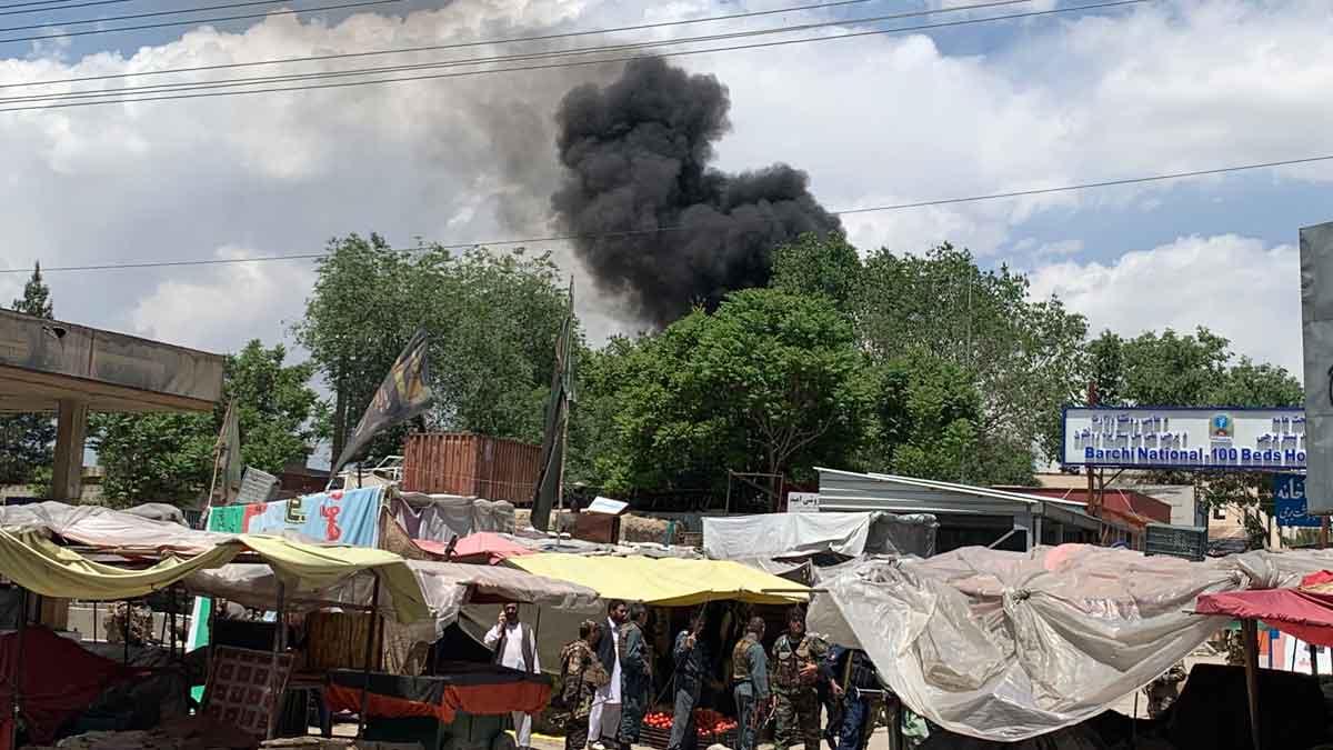 Imágenes del ataque a un hospital de maternidad en Kabul.