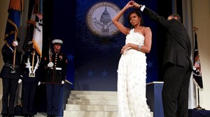 El baile inaugural de los Obama, celebrado en el Centro de Convenciones de Washington con motivo de su investidura, el 20 de enero del 2009.
