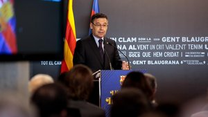 Josep Maria Bartomeu, durante su discurso.