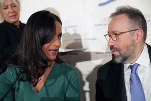 Begoña Villacís junto a su compañero de partidoJuan Carlos Girauta.