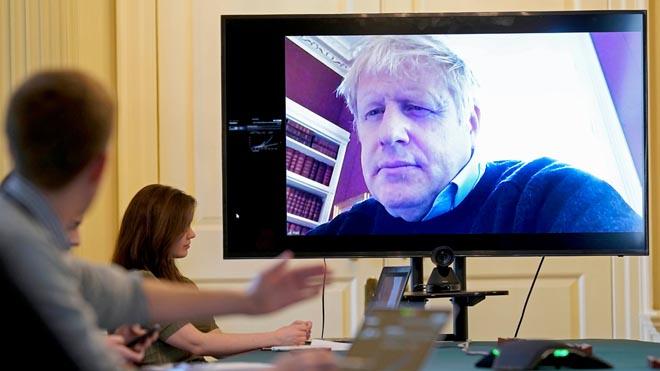 Boris Johnson, hospitalizado por el coronavirus.