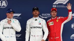 Bottas, Hamilton y Vettel, los más rápidos hoy en el último entrenamiento del GP de España, que se disputa en Montmeló.