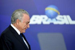 El expresidente de Brasil,Michel Temer.