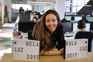 Carlota Pi, en las oficinas de la empresa.