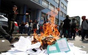 Protestas de estudiantes en Chile.
