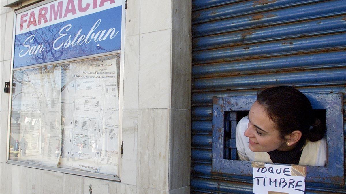 Una farmacia en Montevideo.