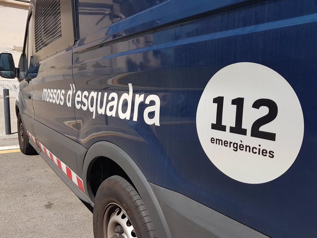 Un vehículo de los Mossos dEsquadra.