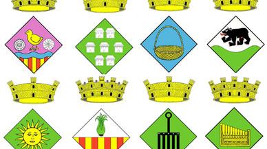 Así son los escudos municipales más chanantes de Catalunya