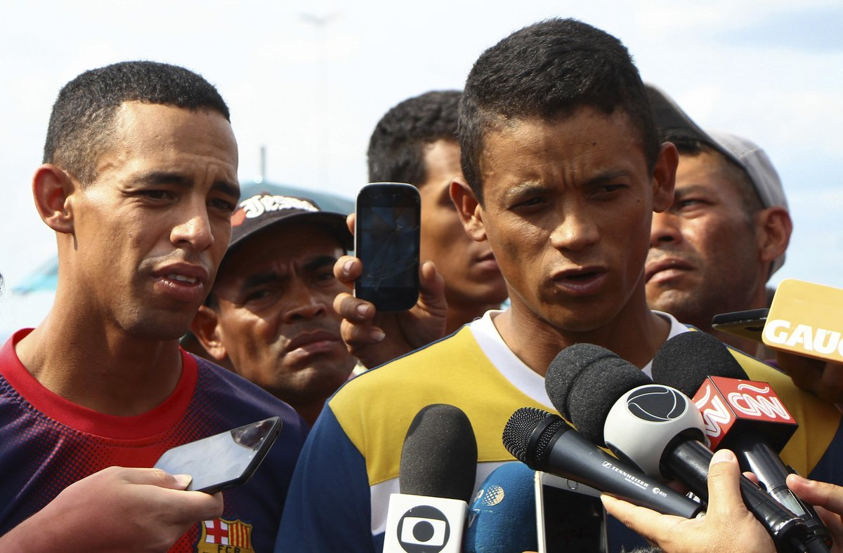 Jean Carlos Cesar Parra yJorge Luis Gonzalez Romero, desertores de laGuardia Nacional Bolivariana.