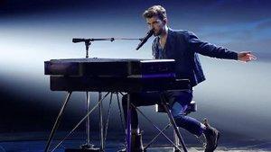 Duncan Laurence en la final de Eurovisión.