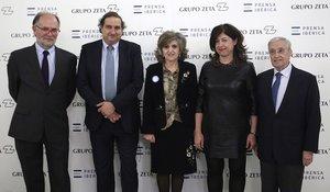 Eduardo Costas, Alejandro Sopeña, Maria Luis Carcedo, Irene Lanzaco y Luis Pablo Rodriguez.