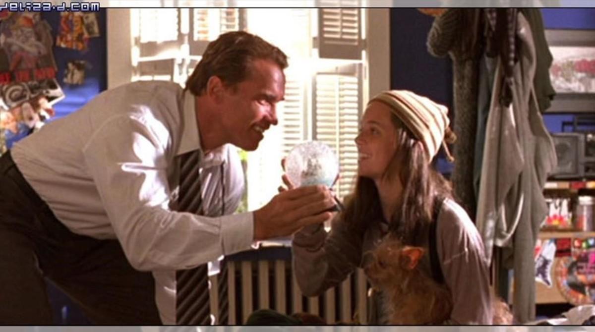 Imagen de la pelicula Mentiras arriesgadas,con Arnold Schwarzenegger y Eliza Dushku.