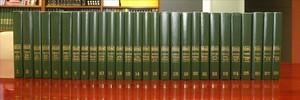 Los volúmenes de la Gran Enciclopèdia Catalana.