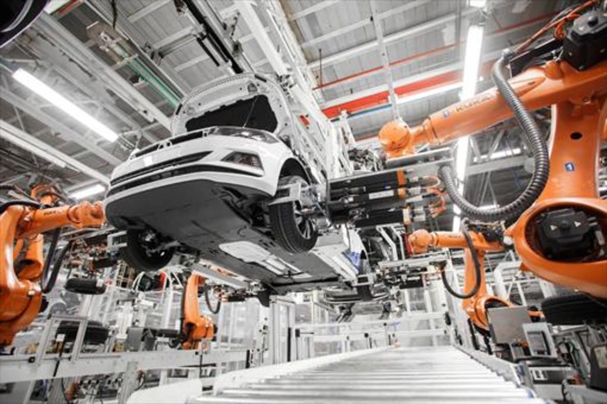 FACTORIAS MODÉLICAS. La planta de Volkswagen en Landaben es una de las más eficientes del grupo alemán.