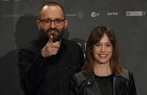 Fernando González Molina y Marta Etura, durante la presentación de la película.