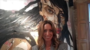 Gemma Mengual posa en la presentación de su colección de joyas, Tiqüe By Gemma Mengual, en Barcelona.