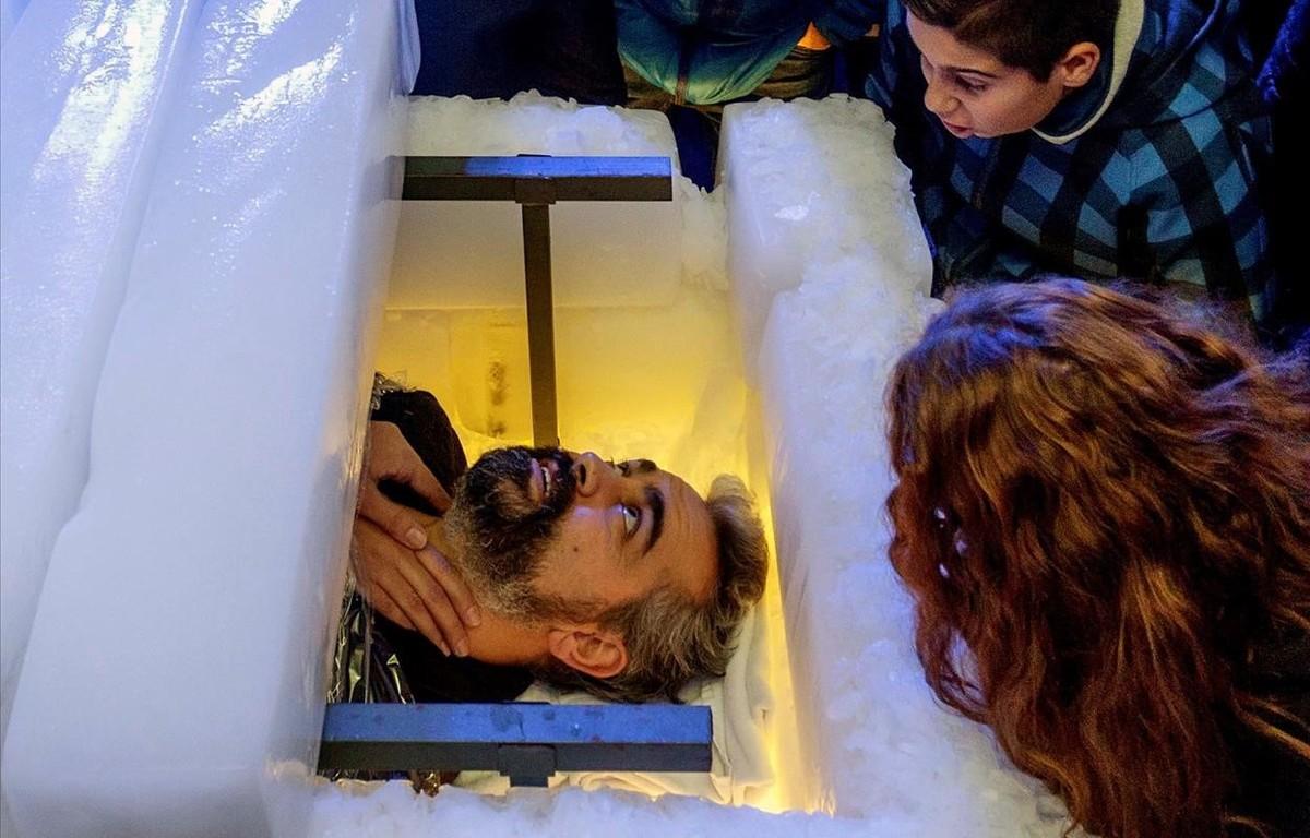 El ilusionista y escapista extremeno Victor Cerro, durante la prueba.
