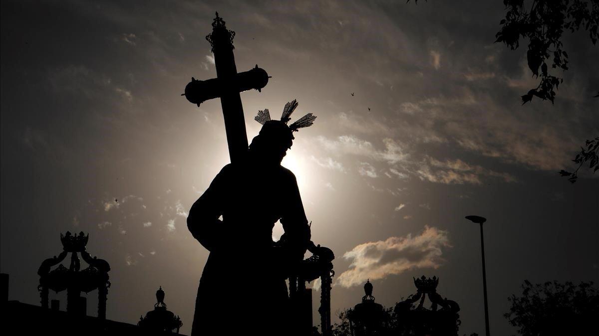 Imagen del Cristo de la Vera Cruz, enlas calles de Córdoba.