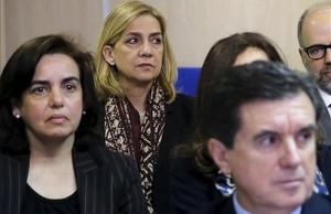 La infanta Cristina, el pasado 11 de enero, en el banquillo de los acusados durante el inicio del juicio por el 'caso Nóos'.