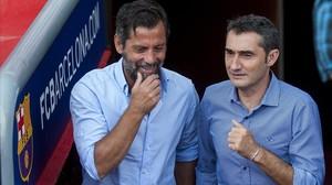 Valverde i Quique o la foto del bon rotllo