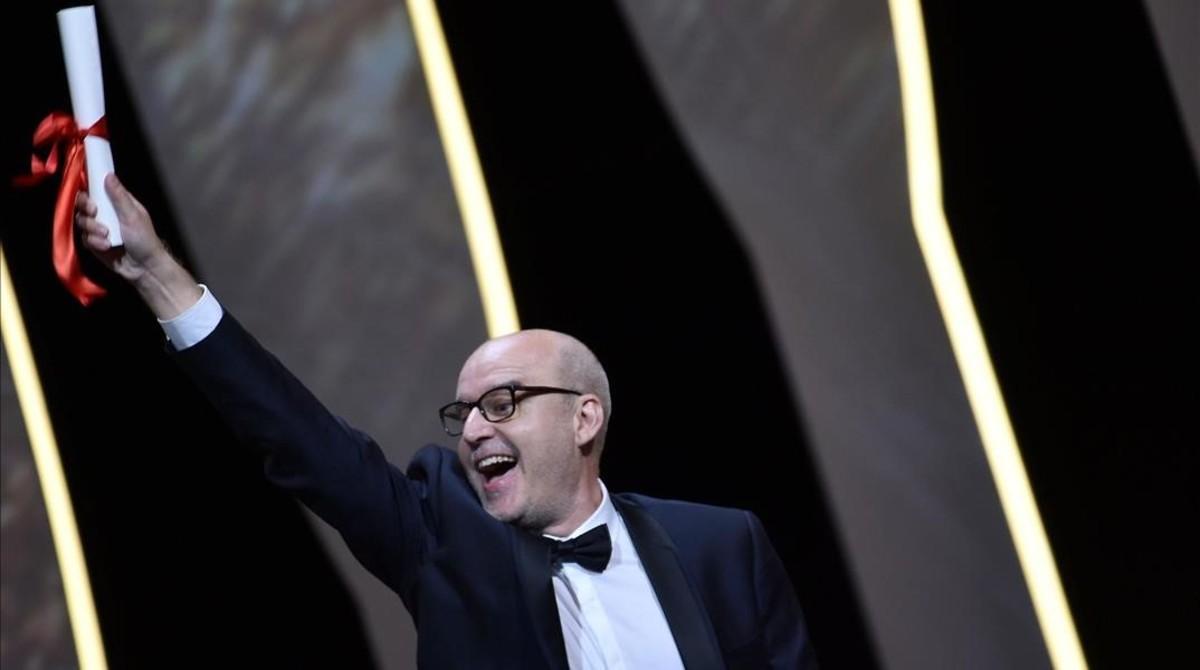 Juanjo Giménez, tras ganar la Palma de Oro en Cannes por Timecode.