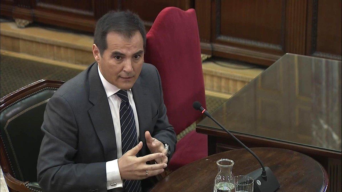 El exsecretario de Estado de Seguridad José Antonio Nieto, durante su declaración en el Tribunal Supremo.