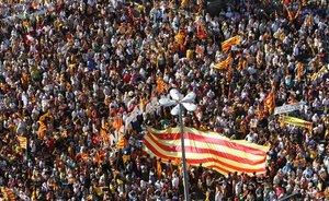Imagen de la muchedumbre que se manifestó contra la sentencia del Estatut el 10 de julio del 2010.