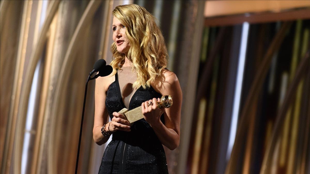 Laura Dern se lleva el Globo de Oro a mejor actriz secundaria en televisión por su trabajo en Big Little Lies.