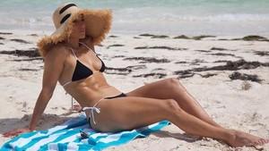 Jennifer Lopez, en bikini.