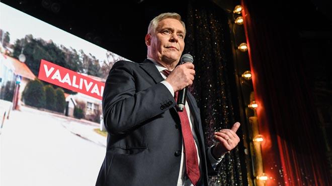 Los socialdemócratas finlandeses logran un triunfo agónico sobre la ultraderecha. En la foto, el cabeza de lista del SDP, Antti Rinne.