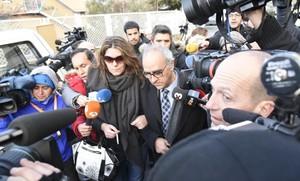 La madre de Nadia, Margarita Garau, entra en los juzgados de La Seu dUrgell.