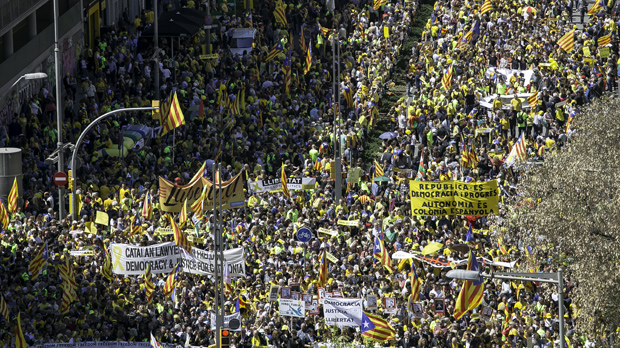 Manifestació a Barcelona per la llibertat dels presos