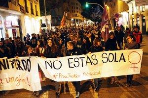 Manifestación contra la sentencia de la 'Manada en Manresa'.